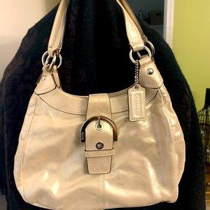 Coach small gold purse